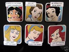 Disney DLR HM Princess Quote 6-Pin Collection (07/11/2008)