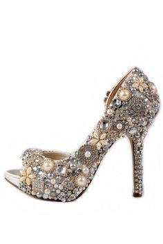 Sparkle wedding shoes!