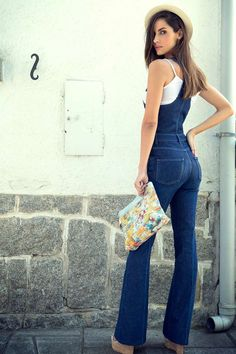 Outfits y mucho mas Date Outfit Casual, Casual Outfits, Cute Outfits, Denim Fashion, Girl Fashion, Fashion Outfits, Womens Fashion, Casual Jumpsuit, Denim Jumpsuit