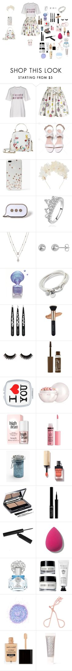 """""""Funny girl"""" by sierracook14 ❤ liked on Polyvore featuring Dolce&Gabbana, Kate Spade, Lizzie Fortunato, PINTRILL, Rimmel, Guerlain, Charlotte Russe, Major Moonshine, L'Oréal Paris and Giorgio Armani"""