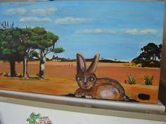 rabbit in landscape