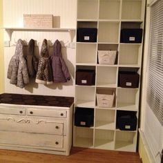 Home organization custom built by my husband for my in home daycare .