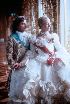 Count Mikhail Vorontsov and Empress Elizabeth - Franco Nero and Vanessa Redgrave in Young Catherine (TV mini-series 1991).