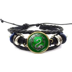 7eeac390902c Gryffindor Hufflepuff Ravenclaw Slytherin Badge Bracelet ( 11) ❤ liked on  Polyvore featuring jewelry and bracelets
