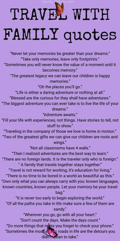 Travel with kids quotes Yay or Nay?👍 👎 👇 . Like what you see, check my profile ----- Follow @traveler_insight on Intagram -----  #travel #traveler<br> Looking for family travel quotes to get inspired for more adventures with kids? Check this list with 30+ best family trip quotes to read. Family Vacation Quotes, Vacation Humor, Family Quotes, Mom Quotes, Quotes For Kids, Quotes Children, Old Memories Quotes, Travel With Kids, Family Travel
