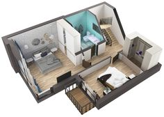 The layout of the second floor of the house