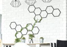 Honeycomb wall hanging, metal wall planter, metal wall art, honeycomb wall art, honeycomb wall decor
