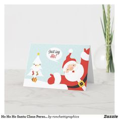 Ho Ho Ho Santa Claus Personalized Holiday Cards Business Christmas Cards, Christmas Greeting Cards, Custom Greeting Cards, Christmas Greetings, Holiday Cards, Santa Christmas, Christmas Gifts, Personalised Christmas Cards, Thoughtful Gifts