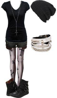 """""""Untitled #437"""" by bvb3666 on Polyvore. If the shorts were longer I would wear this."""