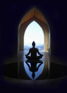 """~NAMASTE~ """"Meditation is the dissolution of thoughts in Eternal awareness or Pure consciousness without objectification, knowing without thinking, merging finitude in infinity. Yoga Meditation, Meditation Pictures, Meditation Retreat, Yoga Inspiration, Religion, Little Buddha, Dalai Lama, Belle Photo, Mantra"""