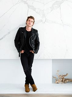 Jeremiah Brent Wins Us Over On Layering Home Scents+ Nate And Jeremiah, Mens Casual Jeans, Look Man, Nate Berkus, Dapper Gentleman, New Wardrobe, Gq, Bomber Jacket, Menswear