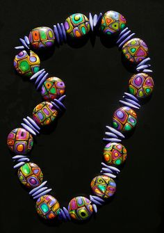 """Jeweled"" Bead Necklace 