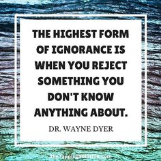 If we only do one thing in life, it should be to continually learn news things and strive to understand them.