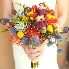 Whimsical wedding bouquet...pinned by Colorway Jewelry: www.colorwayjewelry.etsy.com