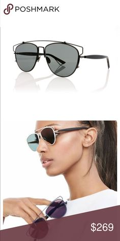 Dior Technologic Sunglasses Christian Dior Technologic Black Dark Grey  Sunglasses. 100% Authentic. d6733fca8f