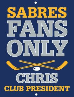 Sabres Custom Personalized Bar Sign  by thepersonalizedstore #ManCave #FathersDay #Groomsmen