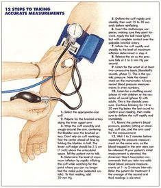 steps to accurate blood pressure measurements