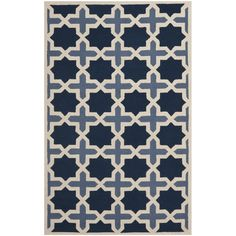 Traditional Handmade Cambridge Moroccan Light Blue Wool Rug | Overstock.com Shopping - The Best Deals on 7x9 - 10x14 Rugs