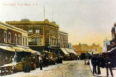 Southwark Park Road the Blue Market Bermondsey South East London England in 1910