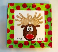 Gare's fb page - What a great Christmas handprint plate!