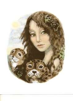 Selkie Celtic sea goddess legend giclee print