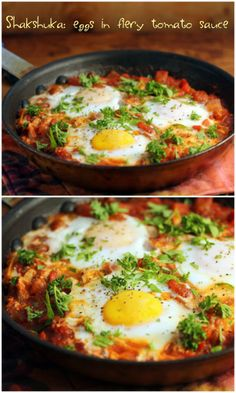 Shakshuka: eggs in fiery tomato sauce {vegetarian, gluten-free} {The Perfect Pantry}