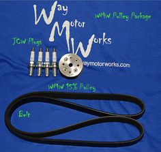 <div>The WMW Pulley Package is the all in one pulley kit for your 2002-2006 R53MINI Cooper S and 2005-2008 MINI Cooper S Convertible. The kit includes a 15%, 16% or 17% WMW supercharger pulley, four NGK colder heat range plugs, and new shorter belt. This is the exact package we install in our shops. Adding the colder heat range plugs can help lo...