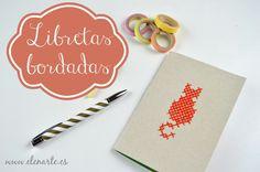 Libreta artesanal bordada