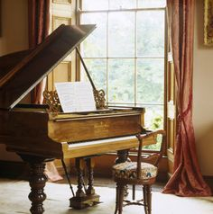 piano at the window. Looks like a Chickering