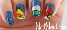 ANGRY BIRD NAILS! OH MY GOODNESS!!