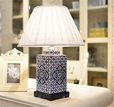 Very Large Blue Patterned Ceramic Table Lamp with Shade 90cm £189 ...