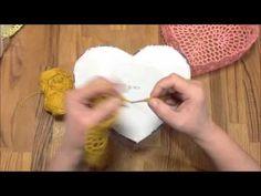 24.02.2016 Tutkallı Kalpli Örgü Sepet Yapımı - YouTube