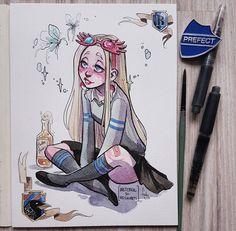 @makabrotka Harry Potter Drawings, Harry Potter Art, Kunst Inspo, Art Inspo, Cartoon Kunst, Cartoon Art, Art And Illustration, Art Drawings Sketches, Cool Drawings