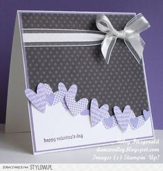 Use All Occasions embossing folder with hearts along wavy edge