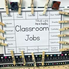 Classroom Jobs Organization Chart!