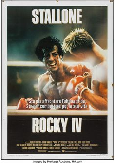 Rocky IV (MGM/UA, Italian 2 - Fogli X Sports. Starring Sylvester Stallone, - Available at Sunday Internet Movie Poster. Rocky Stallone, Rocky Sylvester Stallone, Rocky 1976, Rocky 3, Stallone Movies, Burt Young, Rocky Film, Cinema Posters, Movie Posters
