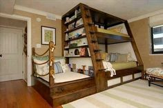 I love this one! The end bed could be for guests or reading!