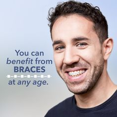 Braces aren't just for kids! You're never too old to get the straight smile you deserve! Braces can even enhance the outcome of cosmetic dentistry like crowns! #dentistry