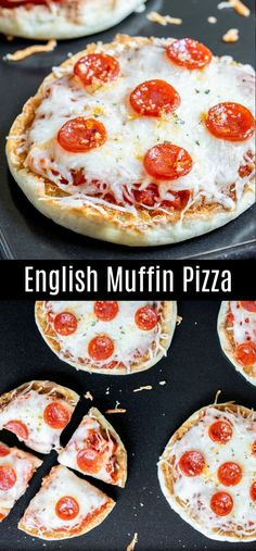 This easy English muffin pizza is a great after school snack recipe for kids. Bake these english muffin pizzas in the oven for lunches, take them with you for camping, top them with your favorite topp Pizza Snacks, Pizza Recipes, Snack Recipes, Cooking Recipes, Pizza Appetizers, Appetizers For Kids, Pizza Pizza, English Muffin Pizza, English Muffin Recipes