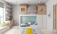 Cool Kids Bedrooms, Kids Bedroom Designs, Bunk Bed Designs, Boys Room Design, Boys Bedroom Decor, Girls Bedroom, Boy Room, Kids Room, Diy Toddler Bed