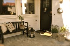 VillaPaprika - Back Patio, Entryway Bench, Entrance, Patio Ideas, Outdoor, Furniture, Space, Garden, Home Decor