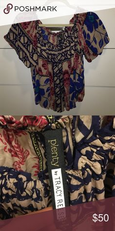 Off the shoulder printed top by TRACY REESE New from this season Tracy Reese printed off the shoulder top Tracy Reese Tops Blouses