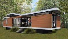If I had my way, we'd have a modest modern house like this. Easy, efficient, minimalistic