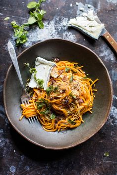 Give zoodles a rest and spiralize in-season butternut squash instead. Recipe here.