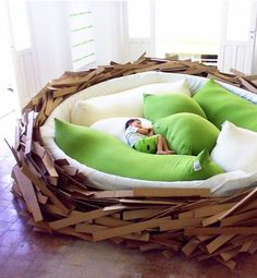 I need a house. A house for this nest bed. I don't think I've ever wanted anything more than this!
