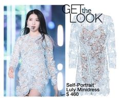 """""""GET THE LOOK // GFRIEND SOWON"""" by tropichild ❤ liked on Polyvore featuring self-portrait"""