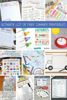 This ultimate list of 32 Free Summer Printables for kids includes our favorite outdoor games, educational activities, and road trip fun!