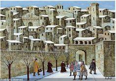 norberto pittore - Buscar con Google Grandma Moses, Construction, Naive Art, Detail Art, Outsider Art, Folk Art, Primitive, Italy, Buildings