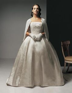Amsale Wedding Dress. I love the sweater!