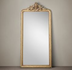 Gold Louis Philippe gilt leaner mirror: http://www.stylemepretty.com/living/2016/10/26/standing-mirrors-perfect-for-the-fashionista-selfie/
